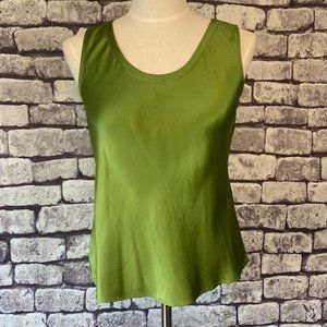 Eileen Fisher Green Silk Tank Size Small